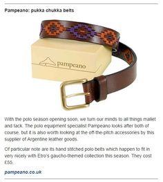 Our #stylish Orquidea purple and orange #polobelt featured in the #Telegraph Magazine online. #polobelts #polo #accessories #fashion #womenswear #menswear #luxury