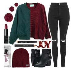 """""""Meet U Under Da Mistletoe..."""" by sweet-jolly-looks ❤ liked on Polyvore featuring Topshop, The Kooples, Order Home Collection, Neff, Bobbi Brown Cosmetics, Estée Lauder, NARS Cosmetics, Winter, SimpleOutfits and simple"""