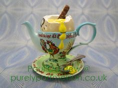 Paul Cardew Design Large Egg Cup Teapot, Signed