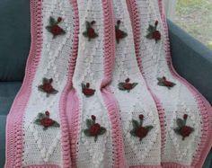 Rose Garden Afghan Crochet Pattern PDF by Maggiescrochet on Etsy