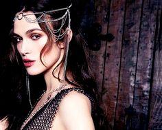 What Would Khaleesi Wear?Chainmail Headdress and Dress as seen on Kiera Knightley for Harpers Bazaar
