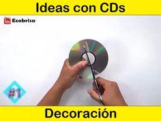 Diy Crafts Hacks, Diy Crafts For Gifts, Diy Home Crafts, Decor Crafts, Crafts With Cds, Paper Crafts, Diy With Cds, Recycled Cd Crafts, Diy Room Decor Videos