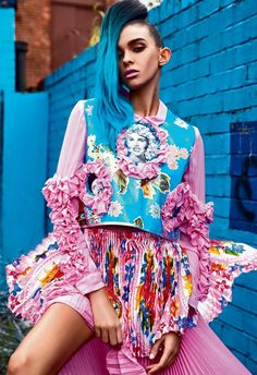 house of coco, Natalie Dawson, fashion editorial, fashion photography, colorful hair, kitsch