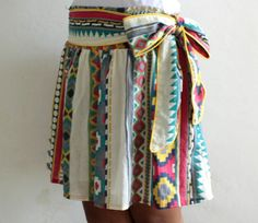 Tribal Skirt with Bow. Like the concept