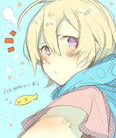 Tsuritama ~~ Haru seems surprised. Wonder why...?