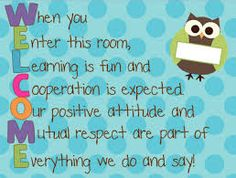 welcome classroom signs - Google Search
