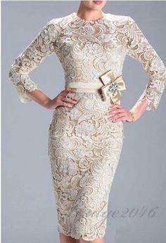 Gorgeous Mother of the Bride Sexy Evening Party Prom Formal Knee length Lace