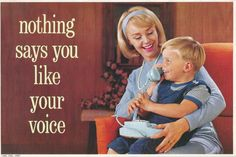 1965 Bell Telephone Advertising Poster Mother And Child Cardboard Poster 7x10