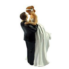 Wedding Cake Toppers figurines couple 3 X 3 X 6 Inch