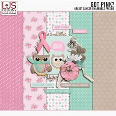 LJS Designs | New Breast Cancer Awareness Freebie: Got Pink?