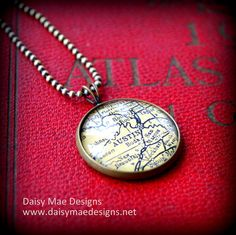 Austin Map Necklace by DaisyMaeDesignsShop on Etsy, $29.00