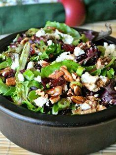 Cherry, Pecan Goat Cheese Salad