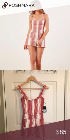 ea558fa37d4d28 Shop Women's Reformation size 0 Other at a discounted price at Poshmark.  Description: Cute NWT Reformation Coconut Jumpsuit, Cuba Stripe, size Sold  by Fast ...