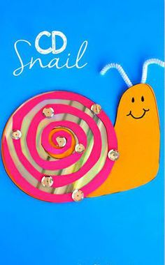 CD Snail Kids Crafts