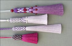 tassels with beads
