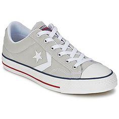 STAR PLAYER CORE CANVAS OX Grau / / Weiss und Edel bei Preis:  90,30 €. Neben einer Sohle aus Kautschuk hat der Star   Player Core Canv Ox außerdem eine Innensohle aus Textil und eine Laufsohle aus Kautschuk. Eine Kreation, die alle Sneaker-  Fans begeistern wird.  #converse schuhe #SneakerConverse  #SchuheSale