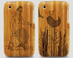 Laser Engraved Bamboo iPhone Cases