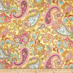 From Timeless Treasures, this fabric is perfect for quilting, apparel and home decor accents. Colors include light blue, green, orange, shades of pink and yellow.