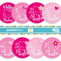 Hello Kitty Baby Onesie Stickers for Girls (etsy) Hello Kitty Nursery, Hello Kitty Baby Shower, Twin Girls, Little Girls, 3rd Baby, Baby Kids, Baby Onesie, Baby Bumps, My Princess