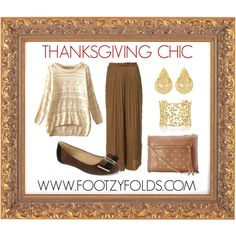 """Be chic and comfortable on Thanksgiving"" by footzyfolds-foldable-shoes www.footzyfolds.com"