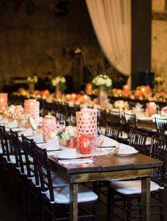 Rustic wedding reception idea; Featured Photographer: J. Stoia Portrait Design