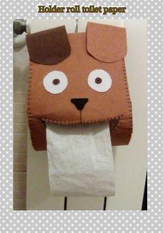 Porta rotolo carta igienica in feltro:)