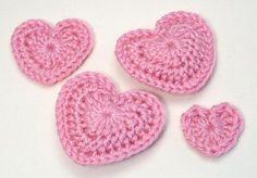 corazones de amor crochet patrón por planetjune