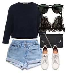 """Untitled #7100"" by laurenmboot ❤ liked on Polyvore featuring Ray-Ban, Yves Saint Laurent, H&M and Isabel Marant"