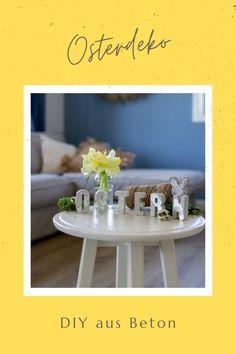 Tolles DIY mit Bastelbeton! Step by Step Anleitungen für unterschiedliche Osterdeko aus Beton findest du auf dem Blog. Diy Upcycling, Diy Hacks, Diy Projects, Thankful, Crafty, Illustration, Blog, Diys, Creative