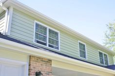James Hardie Siding: Heathered Moss, James Hardie Trim: Arctic White (Naperville, IL) Installed by Opal Enterprises, Inc.