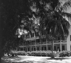 View of The Island Inn Hotel, oldest on the island - Sanibel Island, Florida 1956