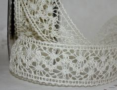 Ivory Crochet Lace Ribbon Crochet Lace Ribbon by ThePaperSandbox, $2.15