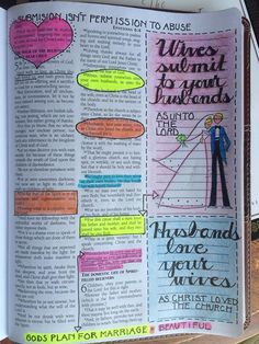 Bible journalling - wives submit to your husband/husbands love your wives.