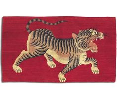 Tufenkian Carpets Max Red 3 x 5 Tiger Rug