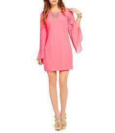 GB Pleated-Sleeve Dress | Dillard's Mobile