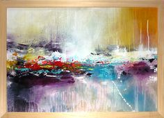 Original large abstract painting acrylic painting by ARTbyKirsten, €269.00