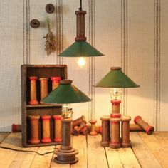 HomArt Piper Wood Spool Pendant Lamp