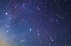 """KAGAYAさんのツイート: """"本日未明北海道で撮影したペルセウス座流星群の流れ星たち。 見頃ピークは本日(8/12)22時頃〜明日朝4時頃。…"""