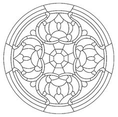 Mandala 592, Mandala Stained Glass Pattern Book, Dover Publications