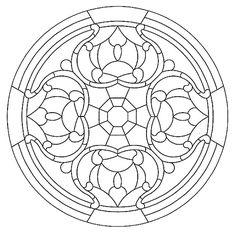 Mandala 592, Mandala Stained Glass Pattern Book, Dover Publications