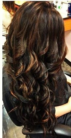 Chocolate Brown Hair With Highlights Ombre Balayage French Sweaping Hand Painting Highlights