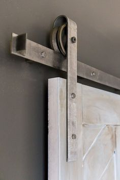 Heavy Duty Industrial Sliding Barn Door Closet by eastoaklane on etsy. Good variety and prices. Made in the US.