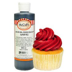 This Red liquid food color gel oz) is formulated to provide vibrant color without breaking down your product. Use like regular food coloring. Gel Color, Colour, Liquid Food Coloring, Whipped Topping, Hot Sauce Bottles, Red, Color, Whip Frosting, Colors