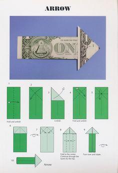 Easy Dollar Bill Origami Arrow Postcard From Barb In Ocala Florida