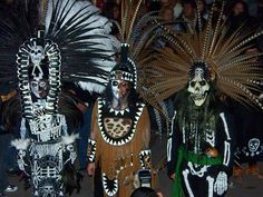 Day of the Dead Aztec Dancers by snapshot05, via Flickr