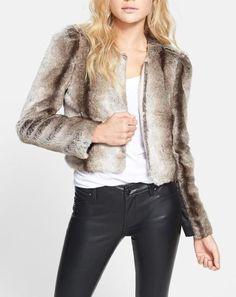 Love! Crop Faux Fur Coat
