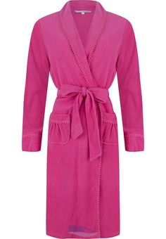 A Pastunette light   luxurious pink cotton terry morning gown Pjs b240c43e6