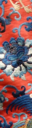 Chinese silk embroidery - detail