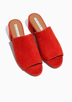 d55be2c960c941 Other Stories image 2 of Suede Sandalette Mule in Red Mules Shoes