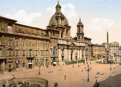 La fuente Acqua Felice - Postales De Roma Antigua (1890)